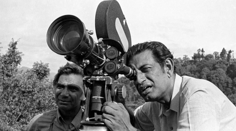 El homenajeado director hindú Satyajit-Ray