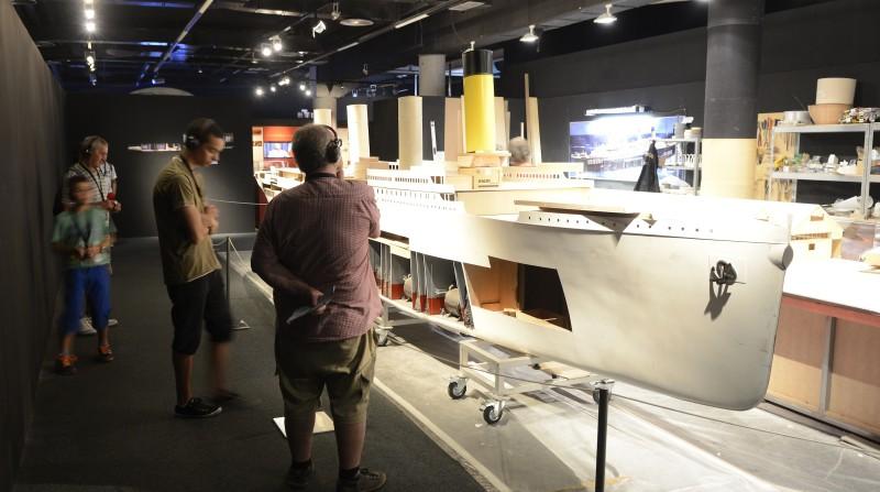 maqueta del titanic parque ciencias granada